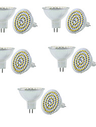 3W GU5.3(MR16) LED Spotlight MR16 60 SMD 3528 250-300 lm Warm White Cold White 3000/6000 K Dimmable Decorative V 10pcs