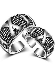 preiswerte -Herrn Damen Bandringe Knöchel-Ring Schmuck Sexy Übergang Modisch Einstellbar bezaubernd Hip-Hop Multi-Wege Wear Sterling Silber Schmuck