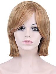 Ženy Medium Brown / Strawberry Blonde Rovné Umělé vlasy Bez krytky Přírodní paruka paruky