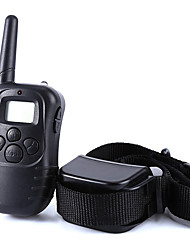 cheap -Dog Training Collar Dog Bark Collar Anti Bark 300M Remote Control Shock/Vibration Electronic LCD Display Black