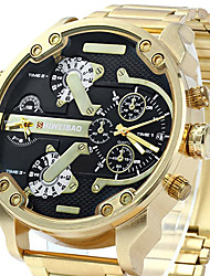 cheap -Men's Japanese Quartz Wrist Watch Bracelet Watch Military Watch Sport Watch Calendar / date / day Water Resistant / Water Proof Large