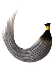 cheap -Fusion /I Tip Human Hair Extensions Human Hair Straight 100 Strands/Pack 50 Strands/Pack 16 inch 18 inch 20 inch 22 inch 24 inch