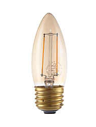 2W E26/E27 LED Filament Bulbs B 2 COB 160 lm Amber 2200 K Dimmable V