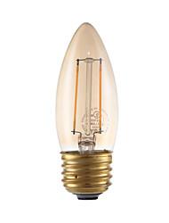 Недорогие -GMY® 1шт 2 Вт. 160 lm E26/E27 LED лампы накаливания B 2 светодиоды COB Диммируемая Янтарный