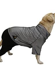 preiswerte -Hund Mäntel Overall Hundekleidung warm halten Reversibel Einfarbig Schwarz Kostüm Für Haustiere