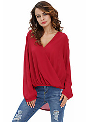 Women's Stylish Crochet Back Wrap Front Blouse