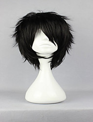 Top Center Design The Prince of Tennis Akaya Kirihara Classical Asia Black Cosplay Wigs