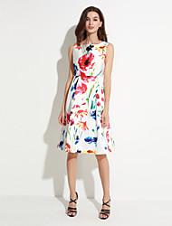 abordables -las mujeres maxlindy de salir / cóctel / fiesta del vintage calle un vestido / elegante / sofisticada línea de flores