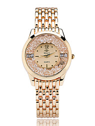 Women's Fashion Quartz Casual Watch Diamond Alloy Belt Business Round Alloy Dial Watch Cool Watch Unique Watch