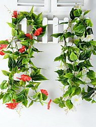 Set of 1 PCS Wedding Decoration Flower Vine Plastic Morning Glory Artificial Flowers Long 90(inch)