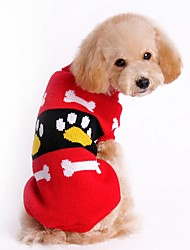 cheap -Cat Dog Sweater Christmas Dog Clothes Color Block Red Pink Acrylic Fibers Costume For Pets Men's Women's Cute New Year's