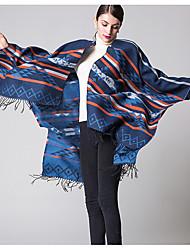 cheap -Women Acrylic ScarfVintage RectangleRed / Black / Blue / PurplePatchwork