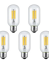 cheap -5pcs 6W 2300/6000 lm E26/E27 LED Filament Bulbs 6 leds COB Warm White Cold White AC 85-265 V