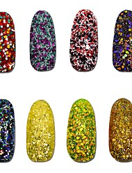 cheap -8pcs Different Colorful Cheese Sequins Nail Glitter Powder Dust Nail Art Decoration DIY Shining Craft Manicure SN17-24