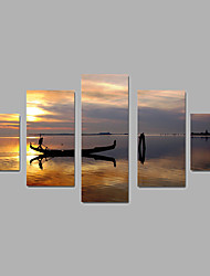 cheap -Rolled Canvas Prints Landscape Modern, Five Panels Canvas Any Shape Print Wall Decor Home Decoration