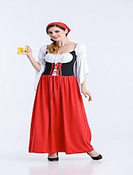 cheap -Women's Long Dress Oktoberfest Beer Maid Bar Fancy Costume
