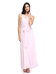 A-Line Sweetheart Ankle Length Chiffon Bridesmaid Dress with Criss Cross by LAN TING BRIDE®