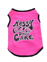 cheap -Cat Dog Shirt / T-Shirt Vest Dog Clothes Letter & Number Rose Cotton Costume For Pets Men's Women's Cute Casual/Daily Holiday Birthday