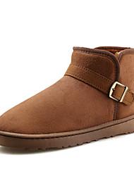Men's Boots Spring / Fall / Winter Comfort Suede Outdoor / Casual Flat Heel Buckle Black / Blue / Brown / Yellow / Gray Walking