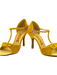 Недорогие -Для женщин-Замша-Персонализируемая(Черный / Желтый / Красный) -Латина / Сальса