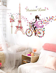 cheap -People Wall Stickers Plane Wall Stickers / Mirror Wall Stickers Decorative Wall Stickerspvc Material Removable