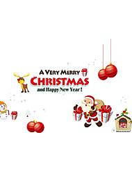 Animali / Natale / Persone Adesivi murali Adesivi aereo da parete Adesivi decorativi da parete,PVC MaterialeLavabile / Rimovibile /