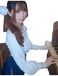 Chemisier/Chemise Doux Lolita Cosplay Vêtrements Lolita Couleur Pleine Manches Longues Moyen Robe Pour Térylène