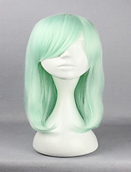 cheap -anime harajuku lolita cosplay wigs 45cm long straight hair haircut light green cosplay wig fashion hairstyles