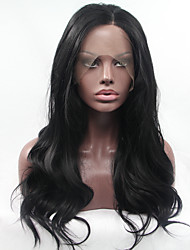 cheap -Synthetic Lace Front Wig Natural Wave Heat Resistant Glueless Black Women's Lace Front Natural Wigs Synthetic Hair