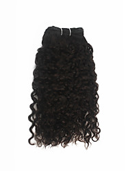 1 Piece Jerry Curl Human Hair Weaves Dark Brown 12Inch and 16Inch Human Hair Extensions