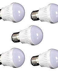 5W E26/E27 Bombillas LED de Globo SMD 2835 400 lm Blanco Fresco Decorativa AC110 / AC220 V 5 piezas