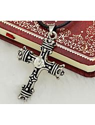 Per uomo A croce Acciaio al titanio Religioso Di tendenza Personalizzato Gioielli Per Quotidiano Casual