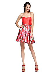 cheap -Ball Gown Sweetheart Short / Mini Mikado Cocktail Party / Prom Dress with Sash / Ribbon by TS Couture®