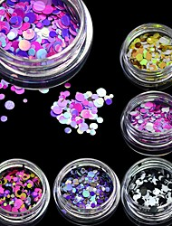 cheap -STZ New 1mm-3mm Mini Round Thin Nail Art Glitter Decoration Colorful DIY Glitter Paillette Design Nail Art Sequin Tips P15-21