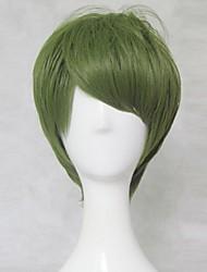 New  Kuroko's Basketball Midorima Shintaro Short Olive Green Cosplay  Wig  30cm Short  Party Wig