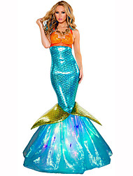 Mermaid Tail Fairytale Female Halloween Christmas Carnival Children's Day New Year Oktoberfest Festival/Holiday Halloween Costumes Solid