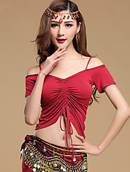 Shall We Belly Dance Tops Women's  Training Modal Short Sleeve Top
