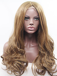 Women Synthetic Lace Front Wigs Top Quality Auburn Long Hair African American Wig Hand-tied Heat Friendly Fiber For Black Women