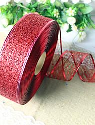 2pcs couleurs aléatoires décoration de Noël pour le diamètre de la maison partie 3.5 * 200cm navidad nouvelles fournitures année de ruban
