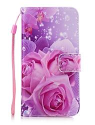 Кейс для Назначение SSamsung Galaxy A5(2017) A3(2017) Кошелек Бумажник для карт со стендом Задняя крышка Цветы Твердый Искусственная кожа