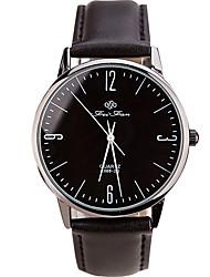 baratos -Homens Relógio de Moda / Relógio de Pulso Legal / / PU Banda Casual Preta / Branco / Marrom