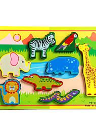Недорогие -Пазлы / Обучающая игрушка Слон / Бык / Лошадь Оригинальные Дерево Мальчики / Девочки Подарок