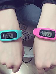 Недорогие -Муж. Жен. Спортивные часы Цифровой LED Педометры силиконовый Группа Цифровой На каждый день Черный / Белый / Красный - Пурпурный Красный Синий / Нержавеющая сталь
