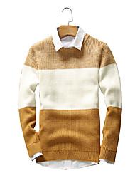 economico -Standard Pullover Da uomo-Per uscire Casual Vacanze Vintage Semplice Moda città Tinta unita A strisce Blu Rosso Nero Marrone Giallo