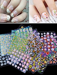 cheap -30Pcs/Lot 3D Manicure Tips Beauty Flowers Nail Art Sticker Decal