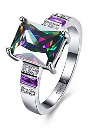 Ring Verlobungsring Zirkon Kubikzirkonia Kupfer Simple Style Verschiedene Farben Schmuck Hochzeit Party Alltag Normal 1 Stück