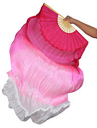 baratos -Dança do Ventre Acesssórios de Palco Mulheres Espetáculo Seda Franzido Vara