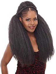 Afro verworren Zöpfe Gehäkelt Locken Afro Havanna Senegal Box Zöpfe Kanekalon Schwarz Haarverlängerungen 45cm Haar Borten