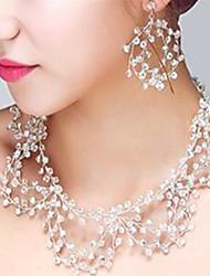 Недорогие -Жен. Кристалл Комплект ювелирных изделий - Включают Прозрачный Назначение Свадьба Для вечеринок