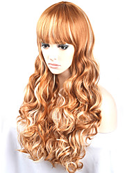 cheap -Women Synthetic Wig Capless Long Very Long Natural Wave Golden Brown Natural Wig Costume Wigs